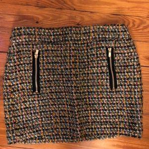 J.Crew Multi Colored Tweed Mini Skirt Size 8